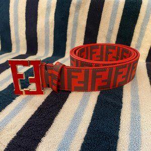 Red Fendi belt men's/women's